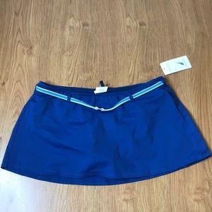 Nautica Blue Swim Skirt Size 10 Brand New With Tag